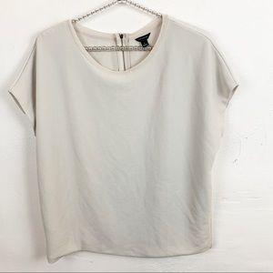 Ann Taylor l Grey Textured Zip Back Top